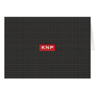 Einfacher mit Monogramm schwarzer Schritt NoteCard Karte