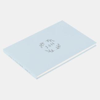 Einfacher Monogramm-HochzeitGuestbook Gästebuch