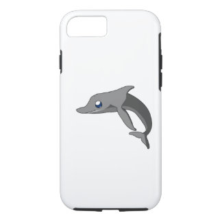 Einfacher niedlicher Cartoon-Delphin Kawaii iPhone 7 Hülle