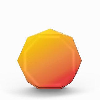 Einfacher orange Goldrot-Schatten Auszeichnung