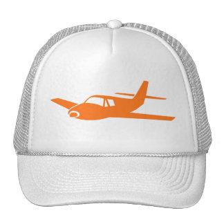 Einfacher orange weißer Flugzeughut Trucker Caps