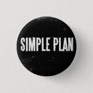 Einfacher Plan Runder Button 3,2 Cm