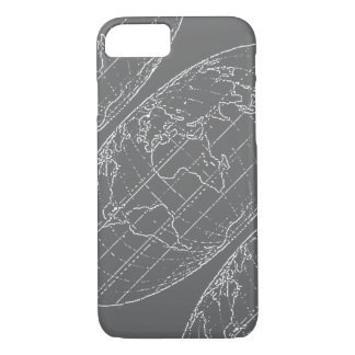 einfacher Planisphere/Karten iPhone 8/7 Hülle