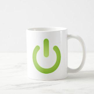 Einfacher Power-Knopf Kaffeetasse