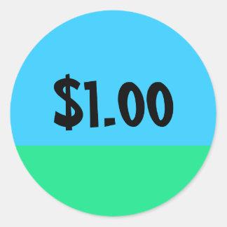 Einfacher Preis-Aufkleber - kundengerecht Runder Aufkleber
