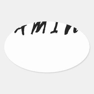 Einfacher sauberer Gamer-Spiel-Schwarz-Text Ovaler Aufkleber