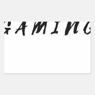 Einfacher sauberer Gamer-Spiel-Schwarz-Text Rechteckiger Aufkleber