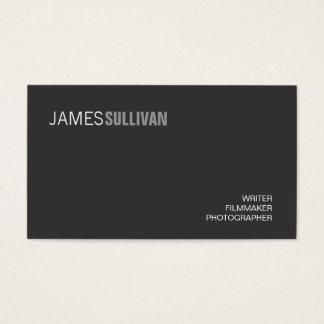 Einfacher schwarzer moderner visitenkarte