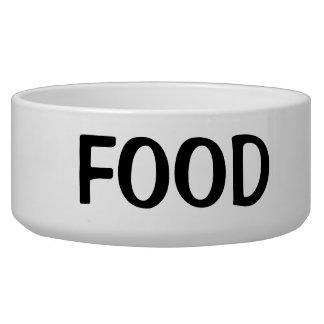 Einfacher schwarzer Nahrungsmitteltext Napf