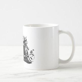 Einfacher Sidecarcross Entwurf Kaffeetasse
