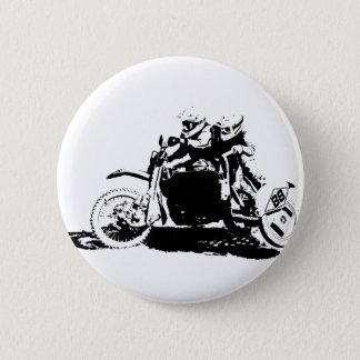 Einfacher Sidecarcross Entwurf Runder Button 5,7 Cm