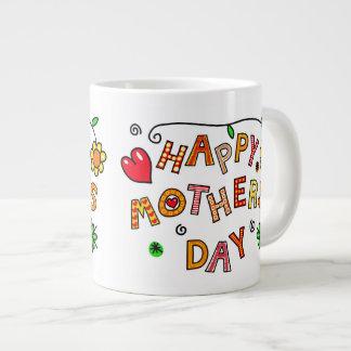 Einfacher und Spaß-glücklicher Mutter-Tag Jumbo-Tasse