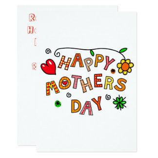 Einfacher und Spaß-glücklicher Mutter-Tag Karte