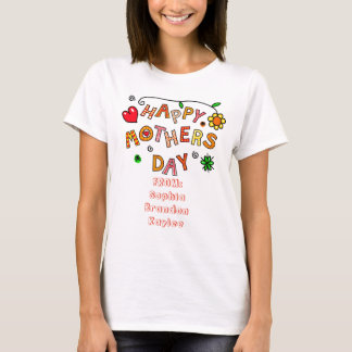 Einfacher und Spaß-glücklicher Mutter-Tag mit T-Shirt