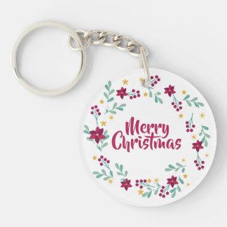 Einfacher WeihnachtsWreath lila | Keychain Schlüsselanhänger