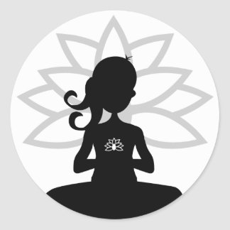 Einfacher Yoga-Silhouette-Aufkleber