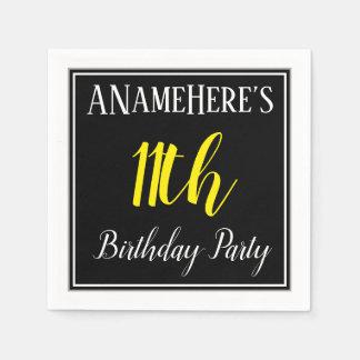 Einfaches, 11. Geburtstags-Party mit individuellem Papierserviette