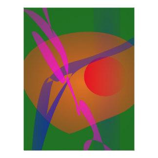 Einfaches abstraktes Zusammensetzungs-Grün Flyerdruck