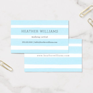 Einfaches blaues Aquarell Visitenkarte