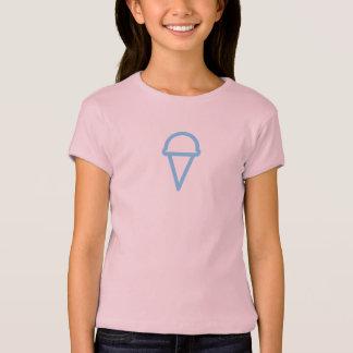 Einfaches blaues Eiscreme-Ikonen-Shirt T-Shirt