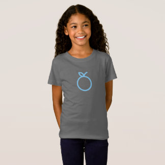 Einfaches blaues orange Ikonen-Shirt T-Shirt