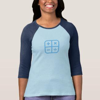 Einfaches blaues Taschenrechner-Ikonen-Shirt T-Shirt