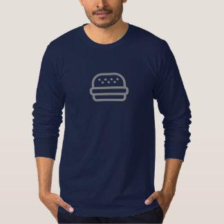 Einfaches Burger-Ikonen-Shirt T-Shirt