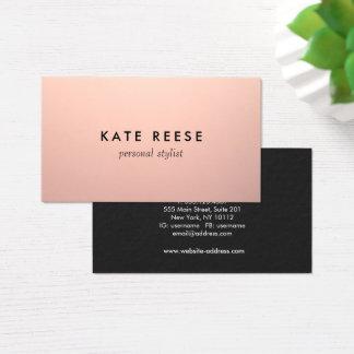 Einfaches Chic-Kupfer-Rosen-Goldberuflicher Visitenkarte