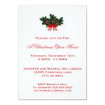 Einfaches des Stechpalmen-Weihnachtsoffenes Individuelle Ankündigskarten