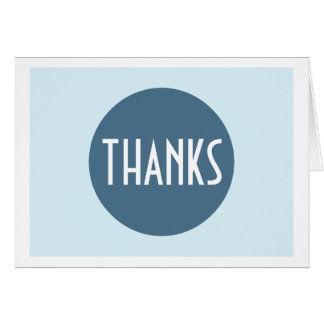 Einfaches einfaches cooles blaues Weiß dankt Ihnen