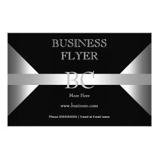 Einfaches einfaches silbernes Schwarz-weißes 14 X 21,6 Cm Flyer