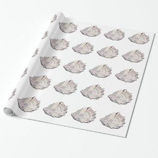 Einfaches elegantes Austern-Aquarell Geschenkpapier