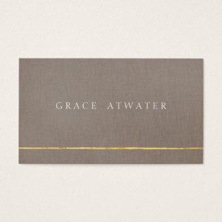 Einfaches elegantes berufliches Gold u. Taupe Visitenkarten