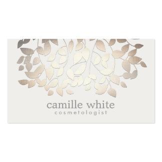 Einfaches elegantes Cosmetology-Imitat-Gold Visitenkarten