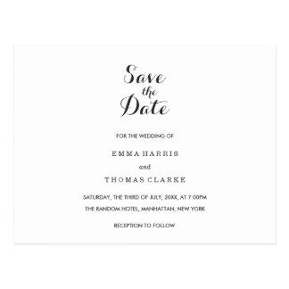 Einfaches elegantes |, das Save the Date Posten Postkarte