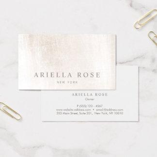 Einfaches elegantes gebürstetes weißes visitenkarte