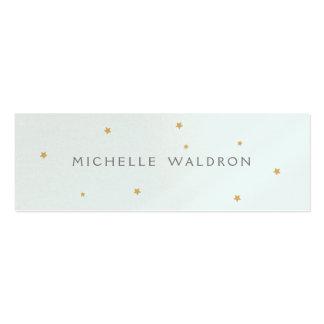 Einfaches elegantes Gold spielt das Pearlized Blau Mini-Visitenkarten