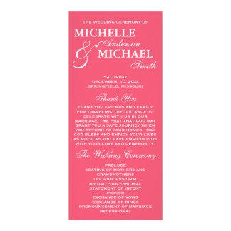 Einfaches elegantes Hochzeits-Programm Werbekarte