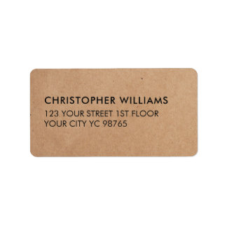 Einfaches elegantes Packpapier-Geschäft Adressetikett