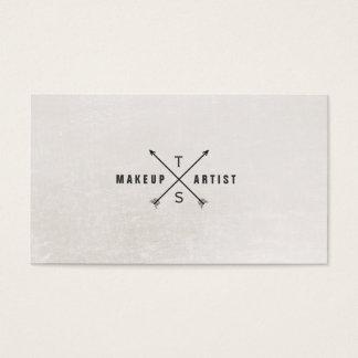 Einfaches elegantes Schwarzweiss-Monogramm Visitenkarte