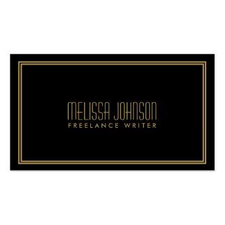 Einfaches Eleganz-Kunst-Deko-Art-Schwarzes/Gold Visitenkarten