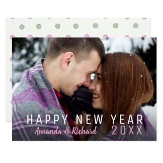 Einfaches Feiertags-Foto-glückliches neues Jahr Karte