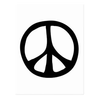 Einfaches flüssiges Friedenszeichen Postkarte