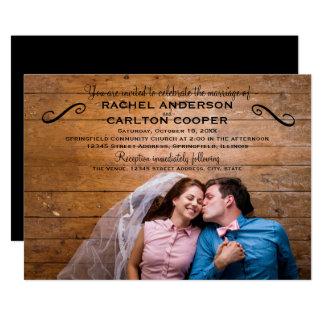 Einfaches Foto - Hochzeits-Einladung Karte