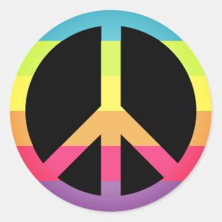 Einfaches Friedenssymbol Runder Aufkleber