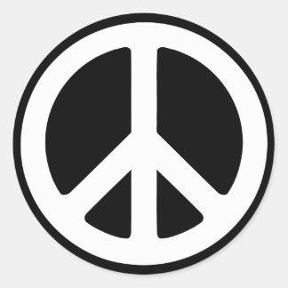 Einfaches Friedenszeichen Runder Aufkleber