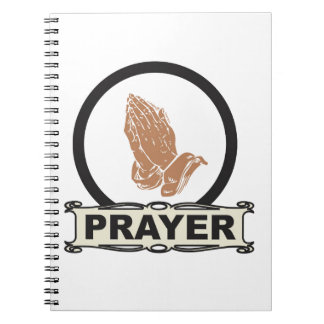 Einfaches Gebet Spiral Notizblock