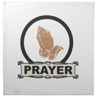 Einfaches Gebet Stoffserviette
