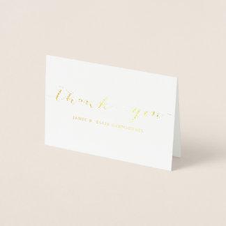 Einfaches Gold danken Ihnen Notecard Folienkarte