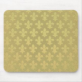 Einfaches goldenes königliches Lilienmuster Mauspads